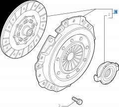 Kit embrague (plato, plato de presión y cojinete empuje axial) para Alfa Romeo