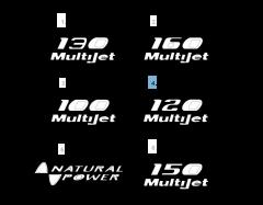 Sigla de modelo 120 MultiJet lateral para Fiat Professional Ducato