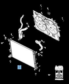 Radiador para refrigeración del motor para Jeep Cherokee