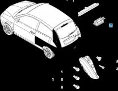 Luz matrícula para Lancia