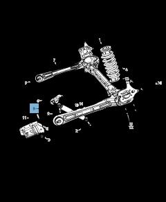 Amortiguador trasero 2 piezas para Lancia Voyager