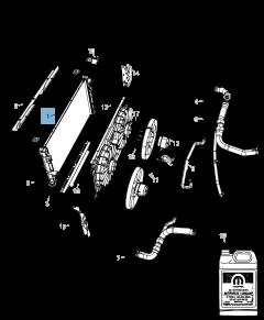 Radiador para refrigeración del motor para Jeep Compass/Patriot