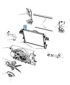 Radiador para refrigeración del motor para Jeep