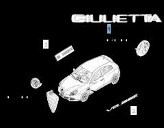 Sigla modelo Giulietta trasera para Alfa Romeo Giulietta