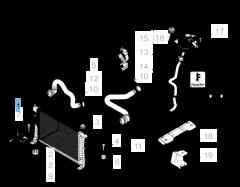 Radiador para refrigeración del motor para Fiat Linea