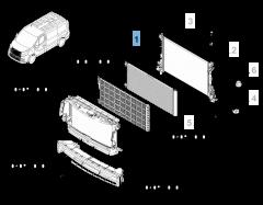 Radiador para refrigeración del motor para Fiat Professional Talento