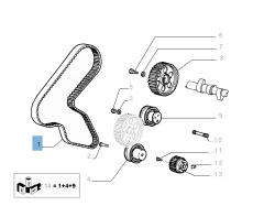Correa de distribución para Fiat y Fiat Professional