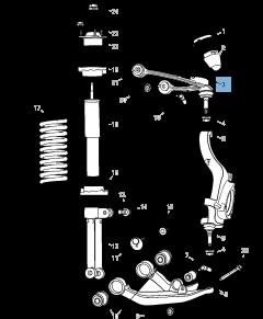 Brazo oscilante para suspensión delantera superior para Jeep Cherokee