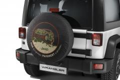 Funda para rueda de repuesto con imagen todoterreno