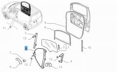 Elevalunas eléctrico delantero derecho para Fiat Professional Fiorino