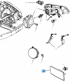 Lámpara intermitente para Lancia Thema