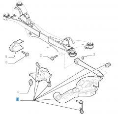 Brazo oscilante izquierdo para suspensión trasera para Alfa Romeo