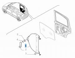 Elevalunas trasero izquierdo para Fiat y Fiat Professional