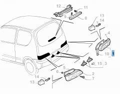 Piloto trasero derecho para Fiat y Fiat Professional