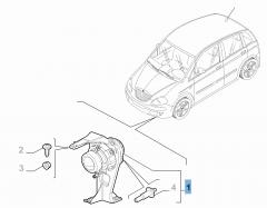 Luz antiniebla delantera derecha para Lancia Musa