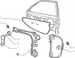 Elevalunas izquierdo para Fiat y Fiat Professional