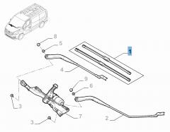 Kit de 2 escobillas para limpiaparabrisas delanteras para Fiat Professional Talento