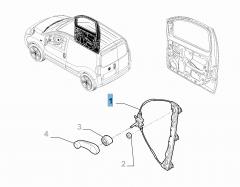 Elevalunas eléctrico delantero derecho para Fiat y Fiat Professional