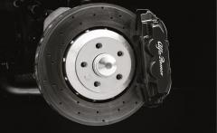 Pinzas negras para frenos delanteros y traseros para Alfa Romeo 4C