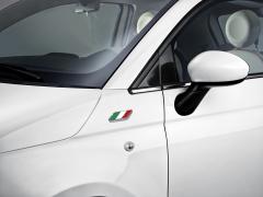 Insignia con la bandera italiana para guardabarros para Fiat 500