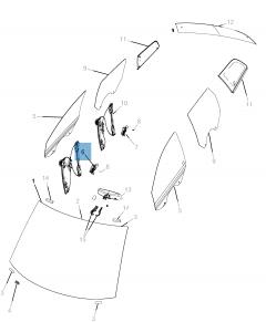 Elevalunas completo con 6 pies para Fiat Freemont