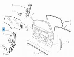 Elevalunas eléctrico delantero derecho para Fiat Linea
