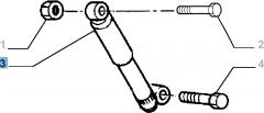 Amortiguador trasero 2 piezas - 2 piezas para Fiat Professional Strada
