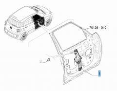 Elevalunas delantero izquierdo para Fiat 500L