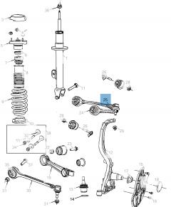 Brazo oscilante para suspensión delantera superior para Lancia Thema