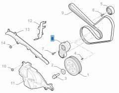 Tensor de correa regulable para Alfa Romeo