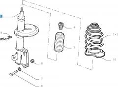 Amortiguador delantero para Fiat Doblo