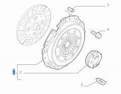 Kit embrague (plato y cojinete empuje axial) para Fiat Professional Ducato