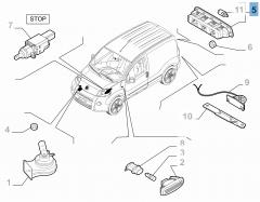 Luz de freno trasera para Fiat y Fiat Professional
