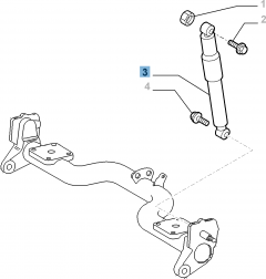 Amortiguador trasero para Fiat Doblo