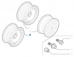 Llanta de acero de 7J x 16'' para Fiat Professional Scudo