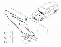 Kit de 2 escobillas para limpiaparabrisas delanteras para Alfa Romeo Giulia