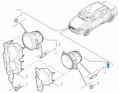 Luz antiniebla delantera para Fiat Professional Strada