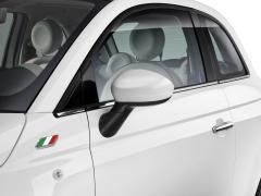 Carcasas de espejos retrovisores blanco brillante para Fiat 500