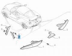 Intermitente trasero lateral izquierdo para Alfa Romeo 4C
