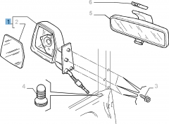 Espejo retrovisor exterior derecho manual para Fiat Professional Scudo
