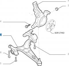 Brazo oscilante izquierdo para Fiat Professional Scudo