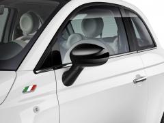 Carcasas de espejos retrovisores negro brillante para Fiat 500