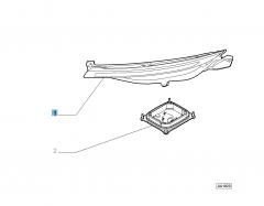 Faro delantero izquierdo sin centralita luces diurnas (D.R.L.)