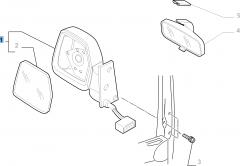 Espejo retrovisor exterior derecho eléctrico para Fiat Professional Scudo