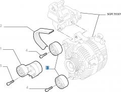 Tensor de correa fijo para Fiat Professional Scudo