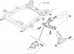 Brazo oscilante izquierdo para Fiat y Fiat Professional