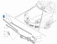 Kit de 2 escobillas para limpiaparabrisas delanteras para Alfa Romeo Giulietta