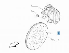Disco de freno trasero para Alfa Romeo 4C