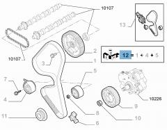 Kit de distribución (correa, tensor de correa fijo y regulable) - 3 piezas para Fiat Professional Scudo
