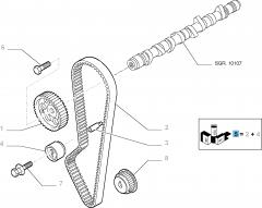 Kit de distribución (correa, tensor de correa) - 2 piezas para Fiat Professional Ducato